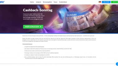 Quasar Gaming: Bis zu 250 Euro Cashback jeden Sonntag
