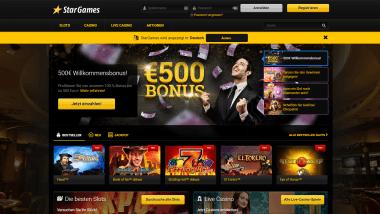 Stargames: Neukunde werden und 500 Euro Bonus sichern