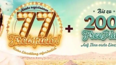 777 Casino: 77 Freispiele ohne Einzahlung kassieren