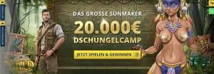 Sunmaker Dschungelcamp Aktion
