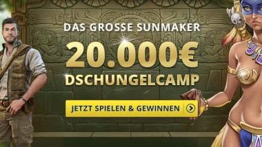Sunmaker: 20.000 Euro Preisgeld warten im Dschungelcamp