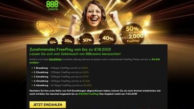 888Casino: Jetzt 18.000 Euro Freeplay sichern