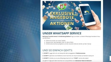 Sunmaker Casino: Bonusangebote per Whatsapp erhalten