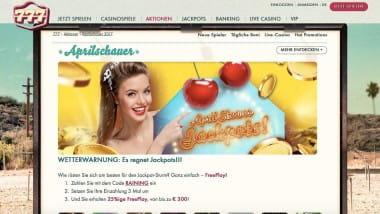777 Casino: Bis zu 9.000 Euro als Bonus im April einkassieren