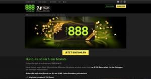 888 Casino Monatsersten Aktion