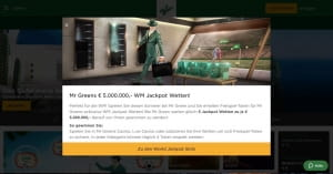 Mr Green WM Jackpot Angebot