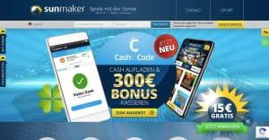 Sunmaker CashtoCode Aktion