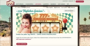777 Casino Glücksrad Aktion