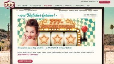 777 Casino: Tägliche Gewinne am Gratis-Glücksrad sichern