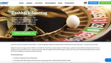Quasar Gaming: Sonntags-Cashback bis zu 250 Euro nutzen