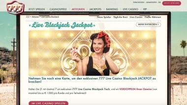 777 Casino: Beim Black Jackpot bis zu 1.000 Euro gewinnen