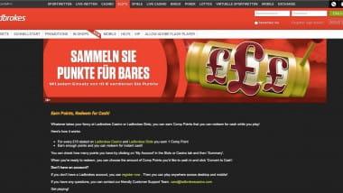 Ladbrokes Casino: Punkte sammeln und in Spielgeld umwandeln