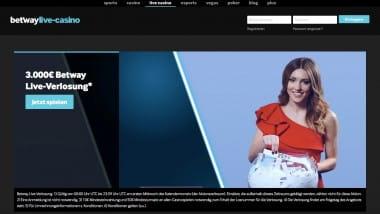 Betway Casino: 3.000 Euro bei der Live-Dealer-Verlosung gewinnen