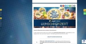 Sunmaker Wunschkonzert Aktion