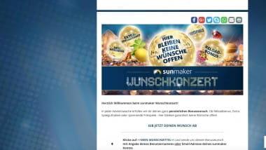 Sunmaker: Persönlichen Bonus beim Wunschkonzert wünschen