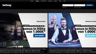Betway Casino: Preise im Live-Prämien Club sichern