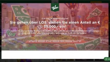 Mr Green Casino: Bei Monopoly Live Anteil an 35.000 Euro sichern