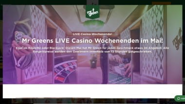 Mr Green Casino: Roulette-Versicherung am Spieltisch nutzen