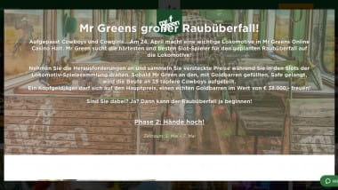 Mr Green Casino: 1-Kilo-Goldbarren gewinnen