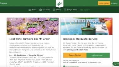 Mr Green Casino: Freispiel-Preise bei den Reel Thrills kassieren