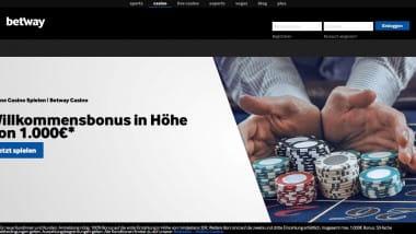 Betway Casino: Bonusgeld und Freiwetten einkassieren