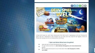 Sunmaker Casino: Beim Spiel um die Welt bis zu 5.000 Euro kassieren
