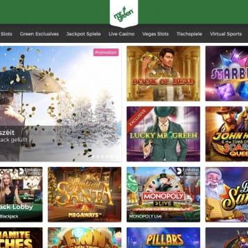 Mr Green Casino: Freispiel-Regenschauer im Dezember