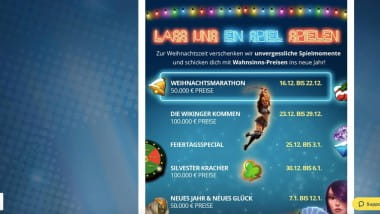 Sunmaker Casino: Haufenweise Preise im Dezember-Endspurt