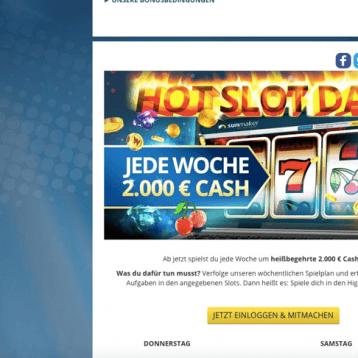 Sunmaker: Jede Woche 2.000 Euro mit den Hot Slot Days