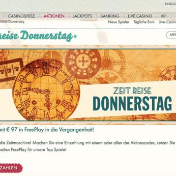 777 Casino: Jeden Donnerstag bis zu 97 Euro Freeplay