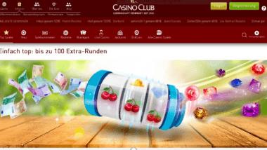 CasinoClub: 100 Freispiele Ende März kassieren