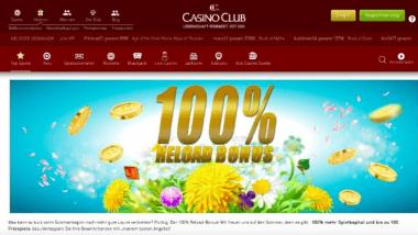 CasinoClub: 100% Bonus für den Mai kassieren