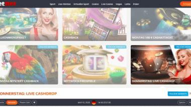 NetBet Casino: Bis zu 100 Euro donnerstags beim Cashdrop holen