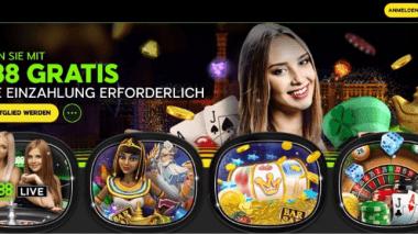 888Casino: Ohne Einzahlung einen Bonus von 88 Euro ergattern