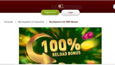 CasinoClub: Reload Bonus und Freispiele