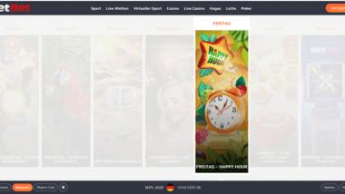 NetBet Casino: Freitags Happy Hour Bonus holen