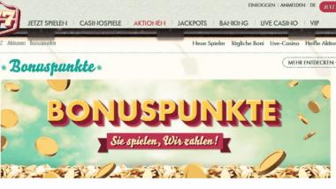 777 Casino: Mit jedem Spiel Bonuspunkte sammeln