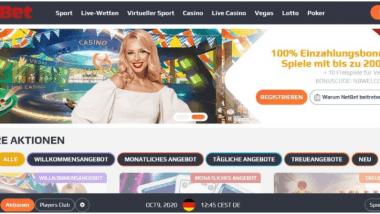 NetBet: Oktoberverlosung spendiert einen neuen Audi e-tron