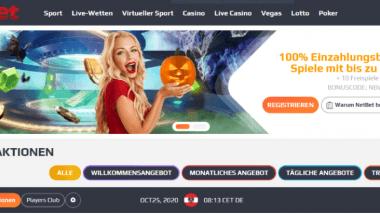 NetBet: Bis zu 100 Freispiele ohne Einzahlung